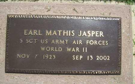 JASPER (VETERAN WWII), EARL MATHIS - Benton County, Arkansas | EARL MATHIS JASPER (VETERAN WWII) - Arkansas Gravestone Photos
