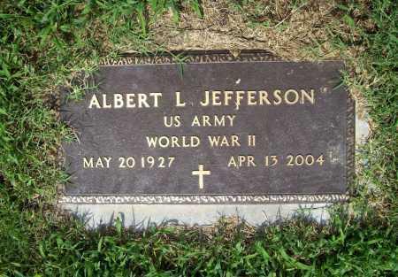 JEFFERSON (VETERAN WWII), ALBERT L. - Benton County, Arkansas | ALBERT L. JEFFERSON (VETERAN WWII) - Arkansas Gravestone Photos