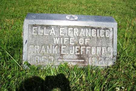 FRANCICO JEFFORDS, ELLA E. - Benton County, Arkansas | ELLA E. FRANCICO JEFFORDS - Arkansas Gravestone Photos
