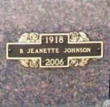 JOHNSON, B. JEANETTE - Benton County, Arkansas | B. JEANETTE JOHNSON - Arkansas Gravestone Photos
