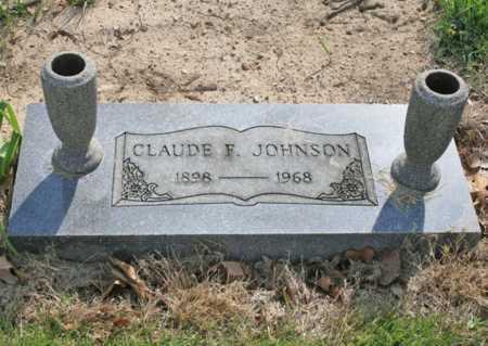 JOHNSON, CLAUDE F. - Benton County, Arkansas | CLAUDE F. JOHNSON - Arkansas Gravestone Photos