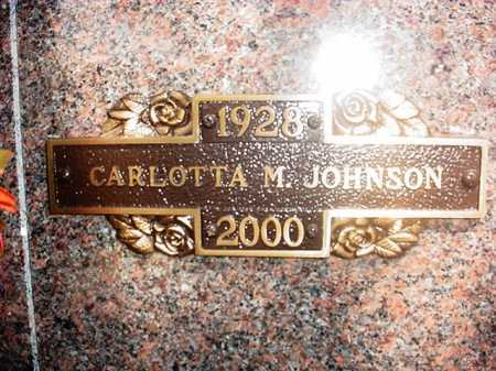 "JOHNSON, CARLOTTA MARIE ""LOTTIE"" - Benton County, Arkansas 