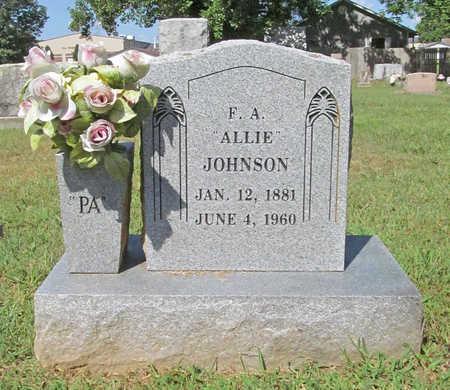 "JOHNSON, F A ""ALLIE"" - Benton County, Arkansas | F A ""ALLIE"" JOHNSON - Arkansas Gravestone Photos"