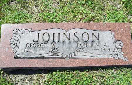 JOHNSON, GEORGE W. - Benton County, Arkansas | GEORGE W. JOHNSON - Arkansas Gravestone Photos