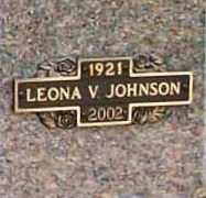 JOHNSON, LEONA V. - Benton County, Arkansas | LEONA V. JOHNSON - Arkansas Gravestone Photos