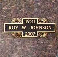 JOHNSON (VETERAN WWII), ROY WALTER - Benton County, Arkansas | ROY WALTER JOHNSON (VETERAN WWII) - Arkansas Gravestone Photos