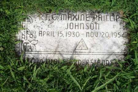 PHILLIPS JOHNSON (VETERAN), MAXINE - Benton County, Arkansas | MAXINE PHILLIPS JOHNSON (VETERAN) - Arkansas Gravestone Photos