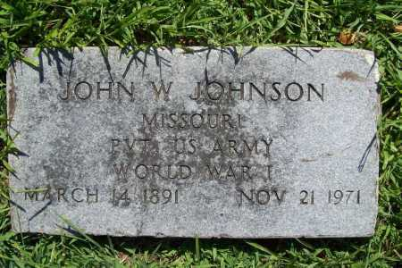 JOHNSON (VETERAN WWI), JOHN W. - Benton County, Arkansas | JOHN W. JOHNSON (VETERAN WWI) - Arkansas Gravestone Photos