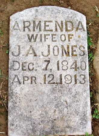 JONES, ARMENDA - Benton County, Arkansas | ARMENDA JONES - Arkansas Gravestone Photos