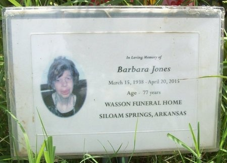 JONES, BARBARA - Benton County, Arkansas | BARBARA JONES - Arkansas Gravestone Photos