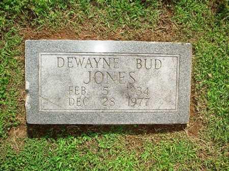 "JONES, DEWAYNE ""BUD"" - Benton County, Arkansas   DEWAYNE ""BUD"" JONES - Arkansas Gravestone Photos"
