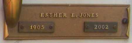 JONES, ESTHER E. - Benton County, Arkansas   ESTHER E. JONES - Arkansas Gravestone Photos