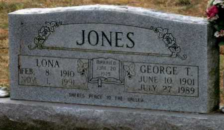JONES, GEORGE T. - Benton County, Arkansas   GEORGE T. JONES - Arkansas Gravestone Photos