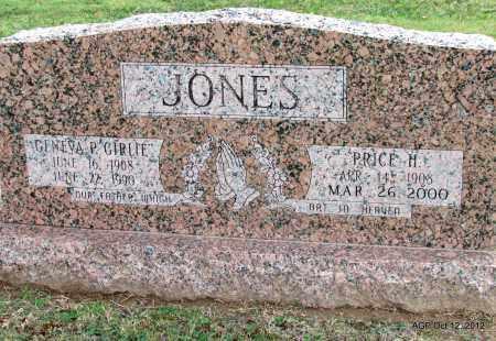 "JONES, GENEVA P ""GIRLIE"" - Benton County, Arkansas | GENEVA P ""GIRLIE"" JONES - Arkansas Gravestone Photos"