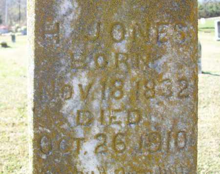 JONES, H (CLOSEUP) - Benton County, Arkansas | H (CLOSEUP) JONES - Arkansas Gravestone Photos