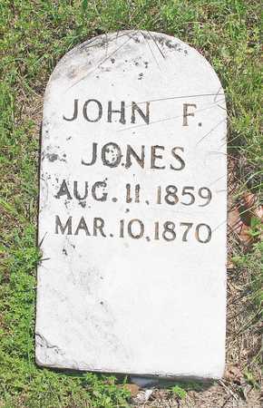 JONES, JOHN F - Benton County, Arkansas | JOHN F JONES - Arkansas Gravestone Photos