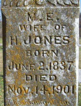 JONES, M. E. (CLOSEUP) - Benton County, Arkansas   M. E. (CLOSEUP) JONES - Arkansas Gravestone Photos