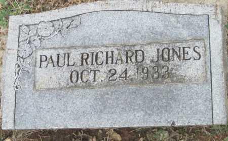 JONES, PAUL RICHARD - Benton County, Arkansas   PAUL RICHARD JONES - Arkansas Gravestone Photos