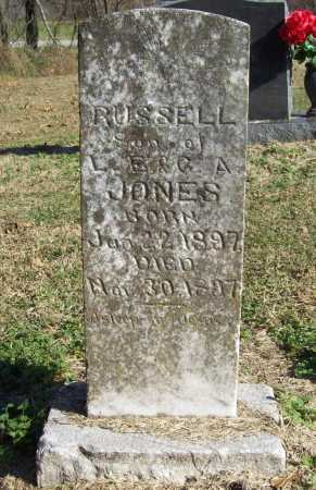 JONES, RUSSELL - Benton County, Arkansas | RUSSELL JONES - Arkansas Gravestone Photos