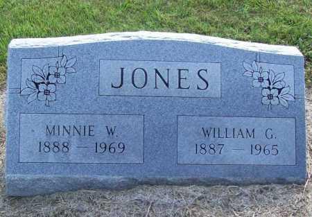 JONES, MINNIE W. - Benton County, Arkansas | MINNIE W. JONES - Arkansas Gravestone Photos