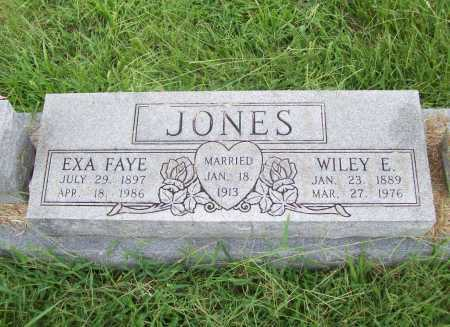 JONES, WILEY EARNEST - Benton County, Arkansas | WILEY EARNEST JONES - Arkansas Gravestone Photos