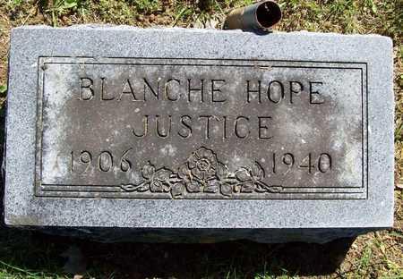JUSTICE, BLANCHE HOPE - Benton County, Arkansas | BLANCHE HOPE JUSTICE - Arkansas Gravestone Photos