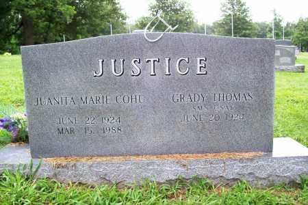 COHU JUSTICE, JUANITA MARIE - Benton County, Arkansas | JUANITA MARIE COHU JUSTICE - Arkansas Gravestone Photos