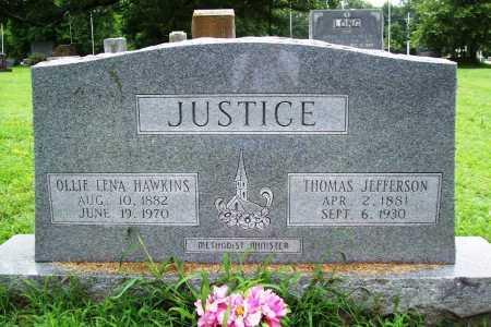 JUSTICE, OLLIE LENA - Benton County, Arkansas | OLLIE LENA JUSTICE - Arkansas Gravestone Photos