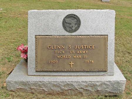 JUSTICE (VETERAN WWII), GLENN STEVENS - Benton County, Arkansas | GLENN STEVENS JUSTICE (VETERAN WWII) - Arkansas Gravestone Photos