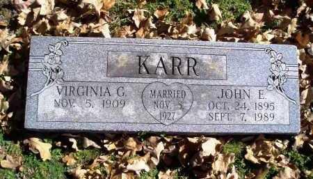 WATSON KARR, VIRGINIA GILMORE - Benton County, Arkansas | VIRGINIA GILMORE WATSON KARR - Arkansas Gravestone Photos