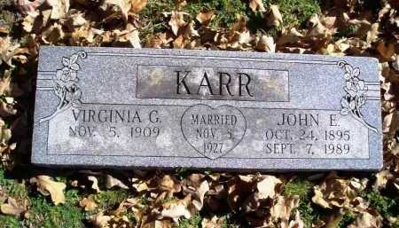 KARR, VIRGINIA GILMORE - Benton County, Arkansas | VIRGINIA GILMORE KARR - Arkansas Gravestone Photos