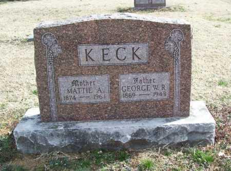 ROBINSON KECK, MATTIE A. - Benton County, Arkansas | MATTIE A. ROBINSON KECK - Arkansas Gravestone Photos