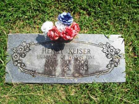 KEISER, HENRY - Benton County, Arkansas | HENRY KEISER - Arkansas Gravestone Photos