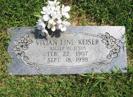 FINE KEISER, VIVIAN - Benton County, Arkansas | VIVIAN FINE KEISER - Arkansas Gravestone Photos