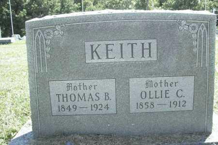 KEITH, OLLIE CORNELIA - Benton County, Arkansas | OLLIE CORNELIA KEITH - Arkansas Gravestone Photos