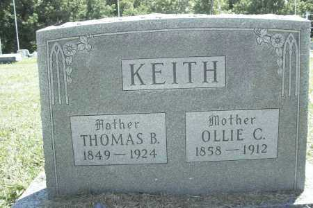 KEITH, OLLIE CORNELIA - Benton County, Arkansas | OLLIE CORNELIA KEITH - Arkansas Gravestone Photos