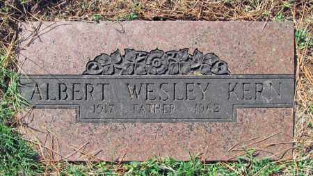 KERN, ALBERT WESLEY - Benton County, Arkansas | ALBERT WESLEY KERN - Arkansas Gravestone Photos