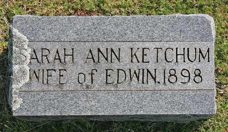 KETCHUM, SARAH ANN - Benton County, Arkansas | SARAH ANN KETCHUM - Arkansas Gravestone Photos