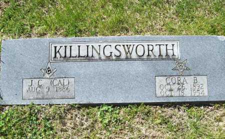 "KILLINGSWORTH, J. C. ""CAL"" - Benton County, Arkansas | J. C. ""CAL"" KILLINGSWORTH - Arkansas Gravestone Photos"