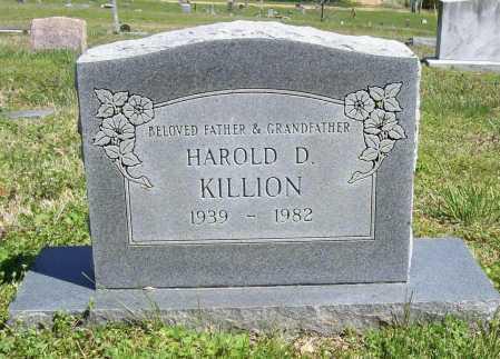 KILLION, HAROLD D. - Benton County, Arkansas   HAROLD D. KILLION - Arkansas Gravestone Photos