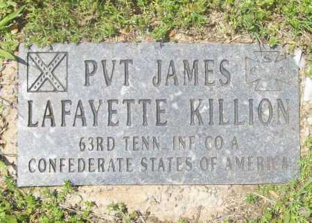 KILLION (VETERAN CSA), JAMES LAFAYETTE - Benton County, Arkansas | JAMES LAFAYETTE KILLION (VETERAN CSA) - Arkansas Gravestone Photos