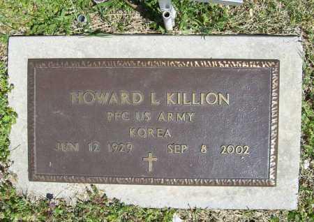 KILLION (VETERAN KOR), HOWARD L - Benton County, Arkansas   HOWARD L KILLION (VETERAN KOR) - Arkansas Gravestone Photos