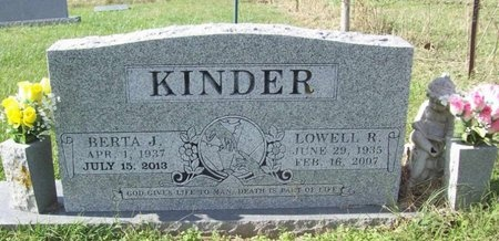 KINDER, LOWELL ROSCOE - Benton County, Arkansas | LOWELL ROSCOE KINDER - Arkansas Gravestone Photos