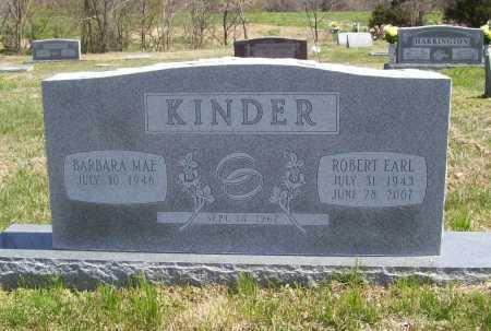 KINDER, ROBERT EARL - Benton County, Arkansas | ROBERT EARL KINDER - Arkansas Gravestone Photos
