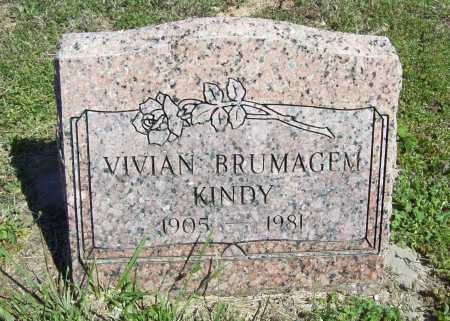 BRUMAGEM KINDY, VIVIAN - Benton County, Arkansas | VIVIAN BRUMAGEM KINDY - Arkansas Gravestone Photos