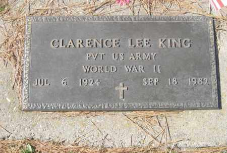 KING (VETERAN WWII), CLARENCE LEE - Benton County, Arkansas | CLARENCE LEE KING (VETERAN WWII) - Arkansas Gravestone Photos