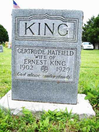 HATFIELD KING, GERTRUDE - Benton County, Arkansas | GERTRUDE HATFIELD KING - Arkansas Gravestone Photos