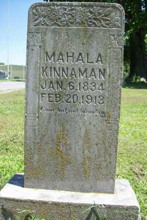 KINNAMAN, MAHALA - Benton County, Arkansas | MAHALA KINNAMAN - Arkansas Gravestone Photos
