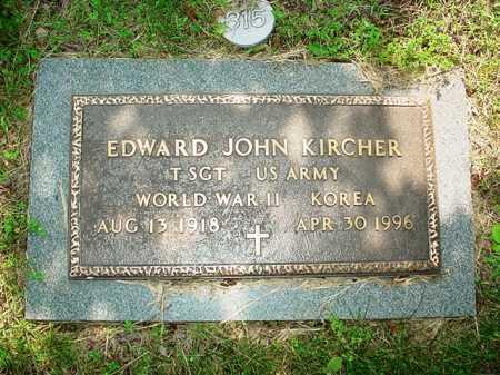 KIRCHER (VETERAN 2 WARS), EDWARD JOHN - Benton County, Arkansas | EDWARD JOHN KIRCHER (VETERAN 2 WARS) - Arkansas Gravestone Photos