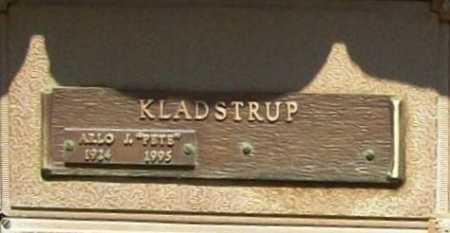 """KLADSTRUP, ARLO J. """"PETE"""" - Benton County, Arkansas   ARLO J. """"PETE"""" KLADSTRUP - Arkansas Gravestone Photos"""